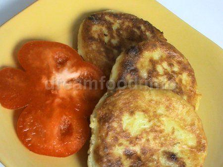 Оладьи из картофеля с творогом