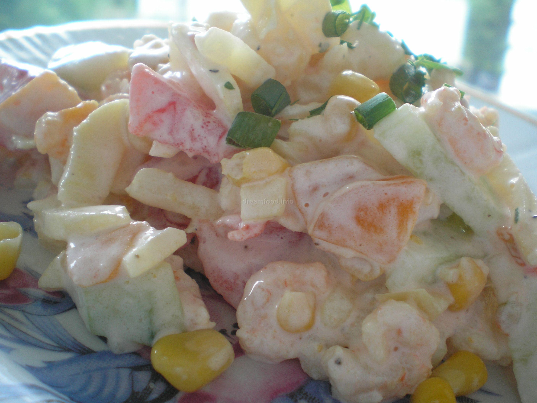 Салат с креветками и яйцом рецепт очень вкусный