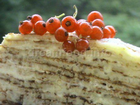 Млинцевий торт  з сиром
