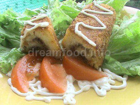 Крученики картофельные с грибами