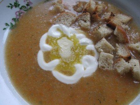 Суп-пюре морковный с овощами