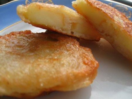 Постные оладьи с яблоками (постный рецепт)