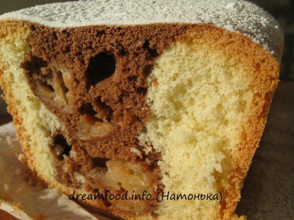 Бисквитный кекс с яблоками