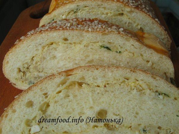Хлеб с капустной начинкой