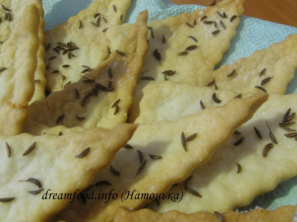 соленые печенья рецепт