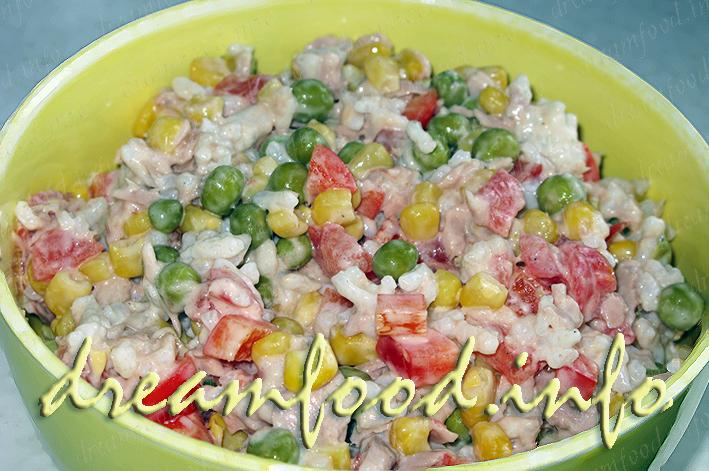 салат из тунца и риса рецепт с фото