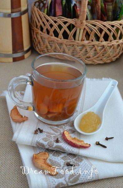 рецепт пряного чая с яблоками