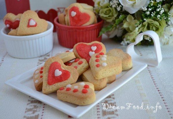 Валентинки - вкусное домашнее печенье