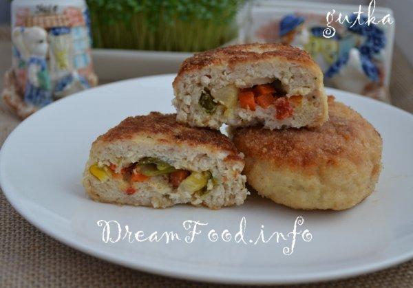 куриные зразы с грибами и сыром рецепт с фото