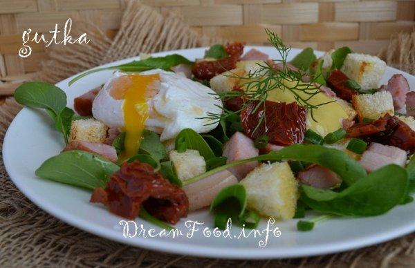 рецепт салата с яйцом-пашот