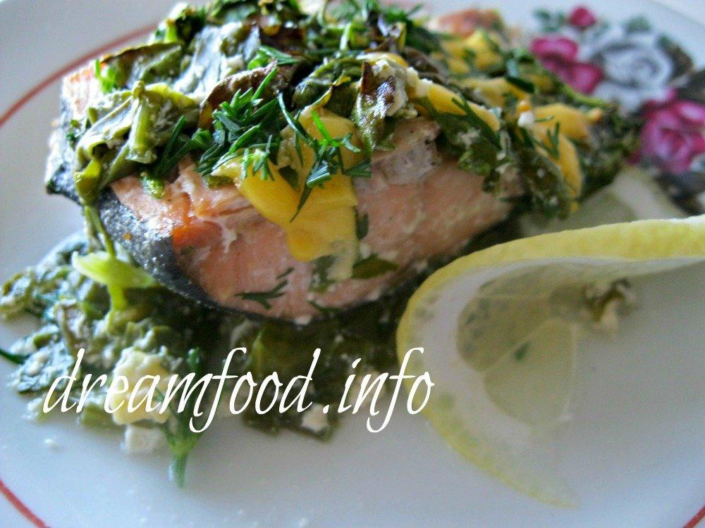 Рыба со шпинатом  vkusnodietru