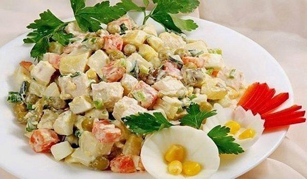 салаты оливье рецепты с фото простые и вкусные