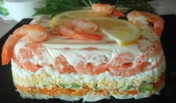 рецепт салат овощной торт рецепт