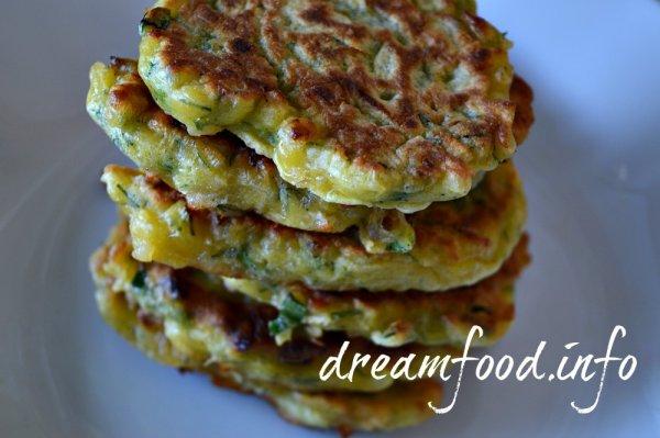 Оладьи с сыром и зеленью