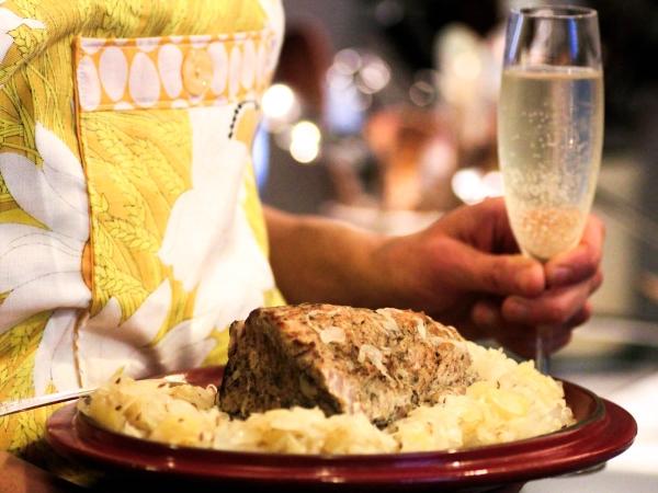 свинина с шампанским