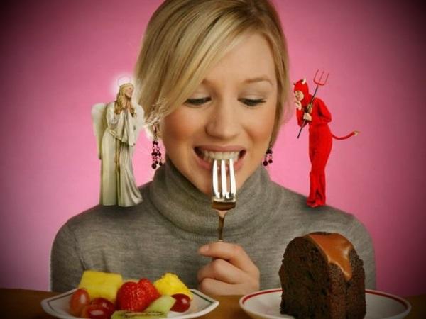 полезная еда или сладкая