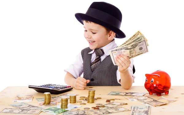 ребенек и деньги